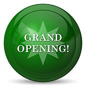 Grand opening icon