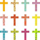 patterned cross