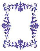 Border Design Lavender 3D