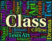 Class Word Shows Study Text And Classrooms