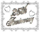 25th Anniversary silver