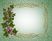 Ivy Floral design border