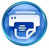 printer icon blue