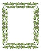 Green and Gold Border