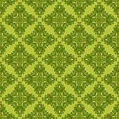 Green seamless vector background gift wrap
