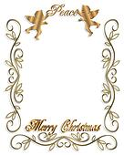 Christmas Peace Angels 3D