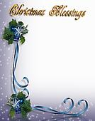 Christmas Blessing Border