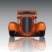 Orange Hot Rod