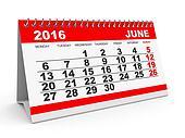 Calendar June 2016.
