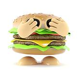 3d Shy burger
