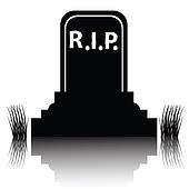 gravestone detailed silhouette