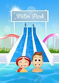 people in water park