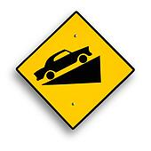 Traffic sign isolated