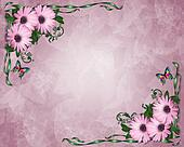 Lavender Daisies Background