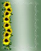 Sunflowers Invitation or Background