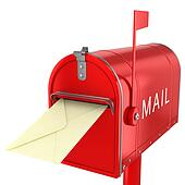 Send letter in mailbox