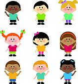 Multicultural Clip Art - Royalty Free - GoGraph