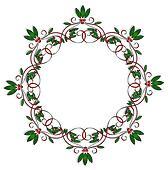 Christmas Design element round