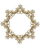 Gold Design element Frame round