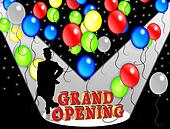 Grand Opening Party invitation.