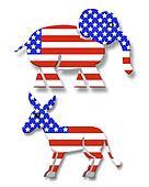 Political Party symbols 3D