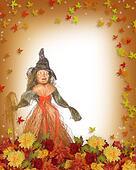 Halloween Straw witch background