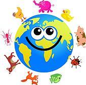 animal globe