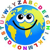 alphabet globe