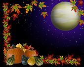 Autumn Harvest Moon Background