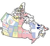 newfounland and labrador on map of canada
