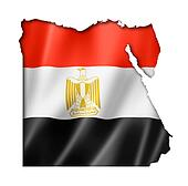 Egyptian flag map