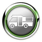 Icon, Button, Pictogram Motorhome