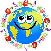bacteria globe