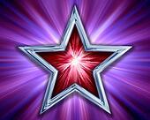 Star on purple background