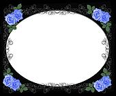 Blue roses border on black