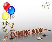 Coming Soon Balloons Background