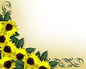 Sunflowers corner Invitation