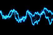 Oscilloscope trace to music