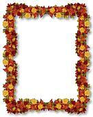 Thanksgiving Fall Leaves border