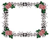 Red Roses Ornamental Border