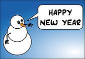Snowman. Happy new year