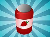 Strawbery jam jar