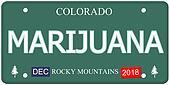 Marijuana Colorado License Plate