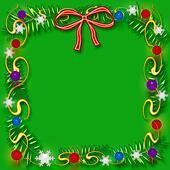 Christmas scrapbook frame