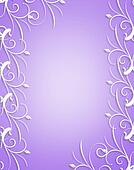 Ornamental frame Lavender and white