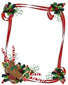 Christmas Treats ribbon Frame