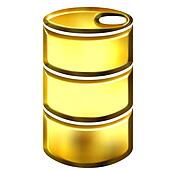 3D Golden Oil Drum