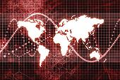 Red Global Business Economy Abstract