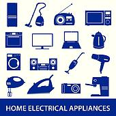 home electrical appliances set eps10