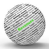 Revenues Sphere Definitions Showing Financial Growth Achievement Or Improvement